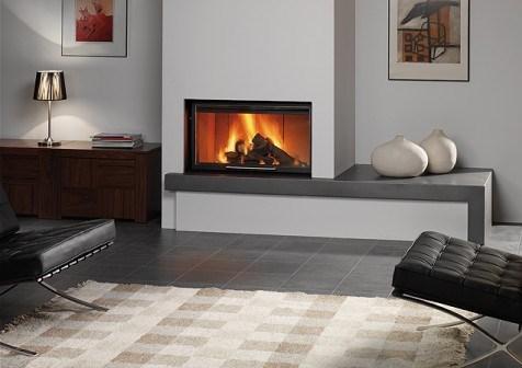 Os recuperadores de calor têm altas eficiências permitindo obter mais calor com menor consumo que as lareiras tradicionais.