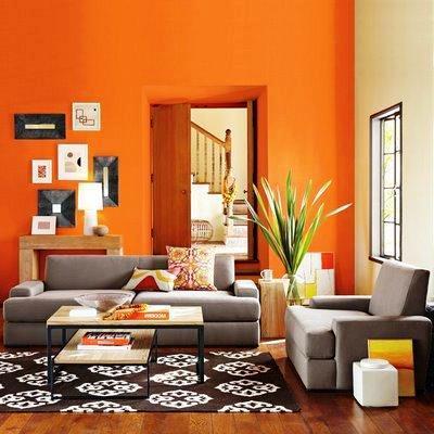 O laranja estimula a criatividade, alegra o ambiente e provoca bem-estar e alegria.