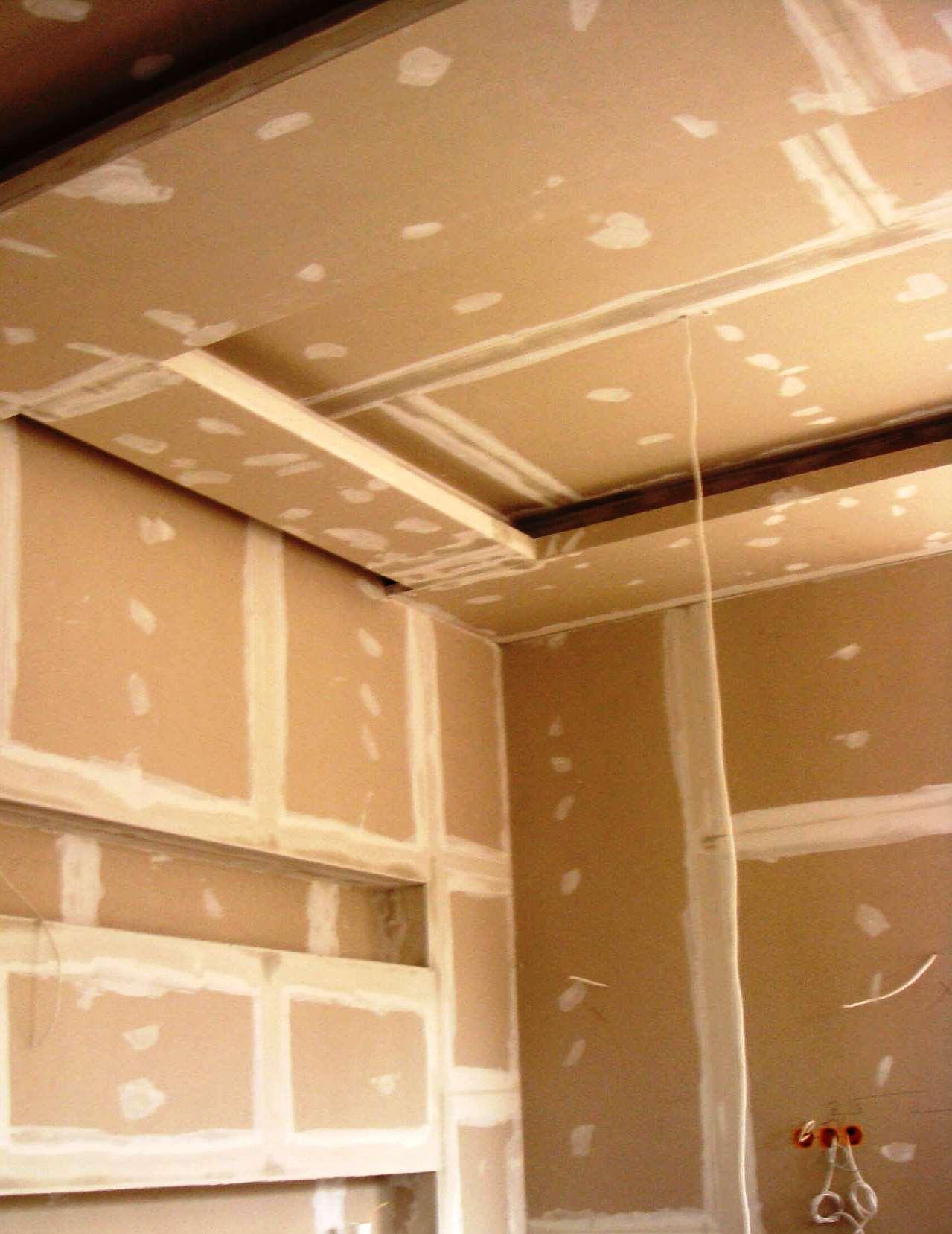 O pladur é muito utilizado em divisórias interiores e tetos-falsos.