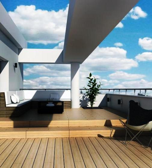 As coberturas em terraço podem ser acessíveis, permitindo o aproveitamento do espaço exterior dos edifícios.
