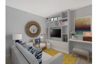 Desenhos em 3D para remodelação completa de apartamento T1