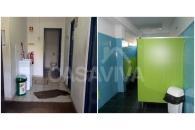 Remodelação de Instalação Sanitária em Escola, incluindo a aplicação de painéis fenólicos