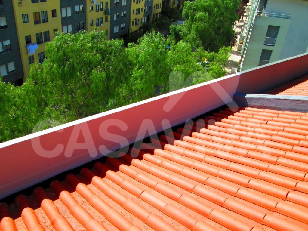 Aspeto final do telhado