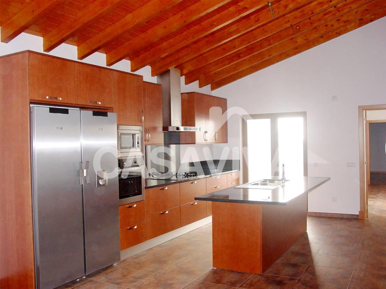 novo mobiliário de cozinha bancada e equipamentos. Ilha de cozinha  #B03D09 1245 933
