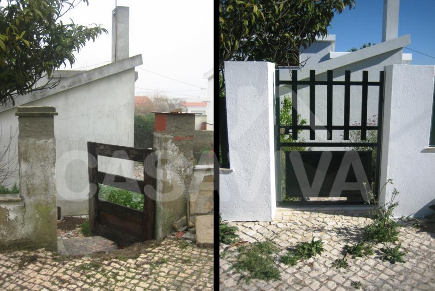 Foi colocado um portão de entrada novo após a reabilitação do muro exterior.