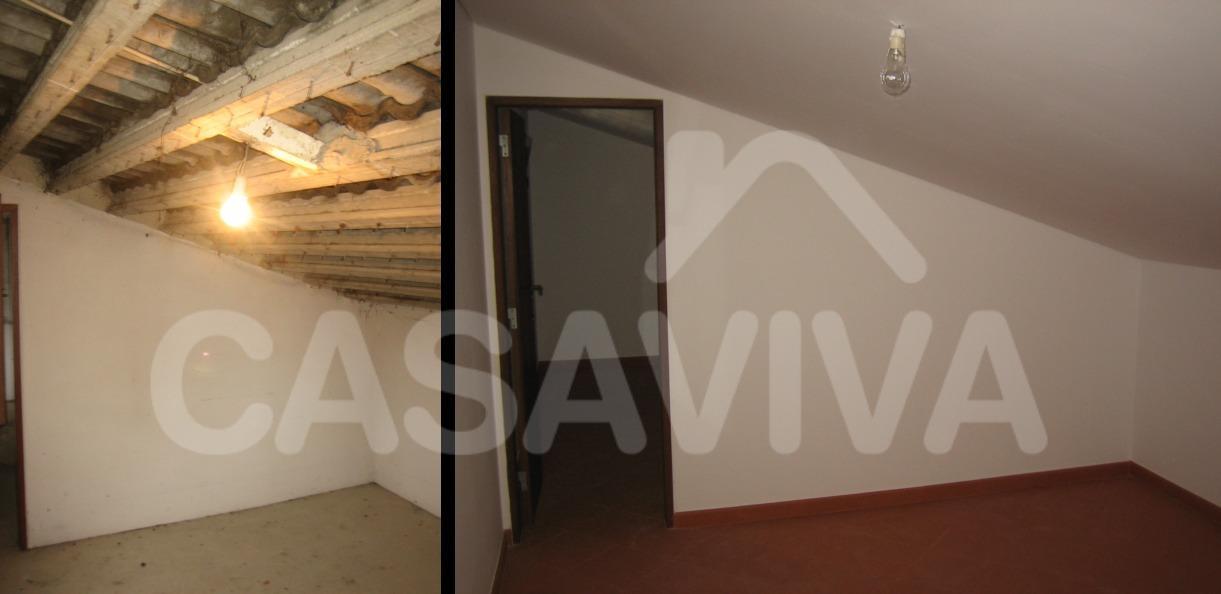 No último piso procedeu-se ainda à colocação de um novo revestimento ao nível do pavimento e à pintura geral do espaço.