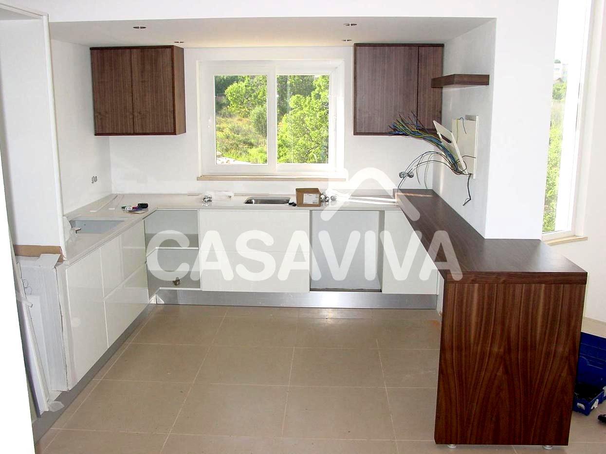 Móveis de cozinha em melamina à medida com electrodomésticos  #3C1912 1245 933