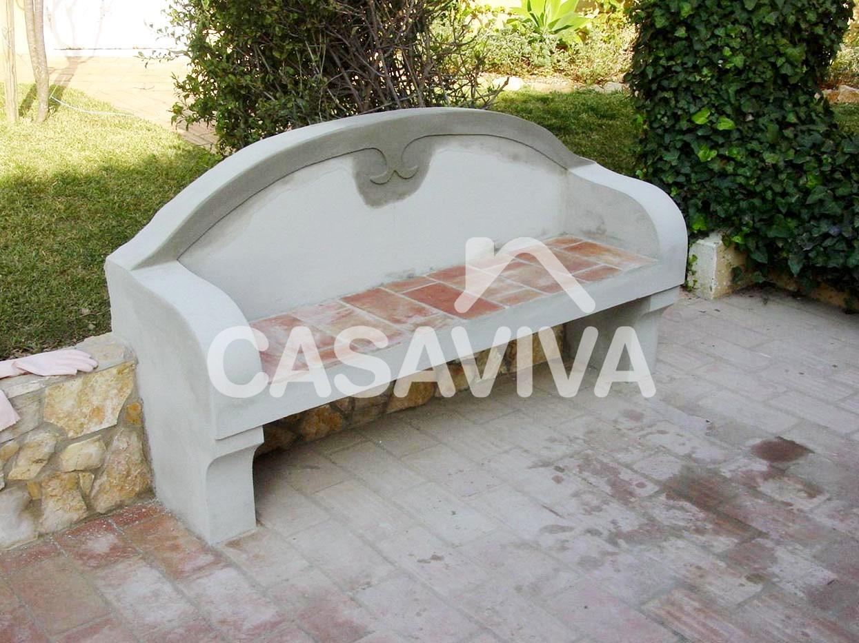 Construção de novo banco de jardim e murete em alvenaria de tijolo  #4A5D26 1245x933