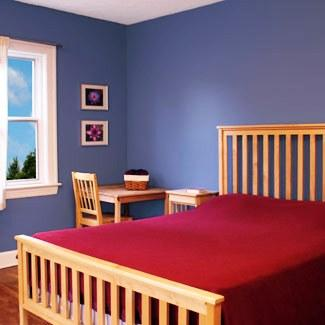 O azul acalma mas em excesso pode tornar o ambiente frio e vazio.