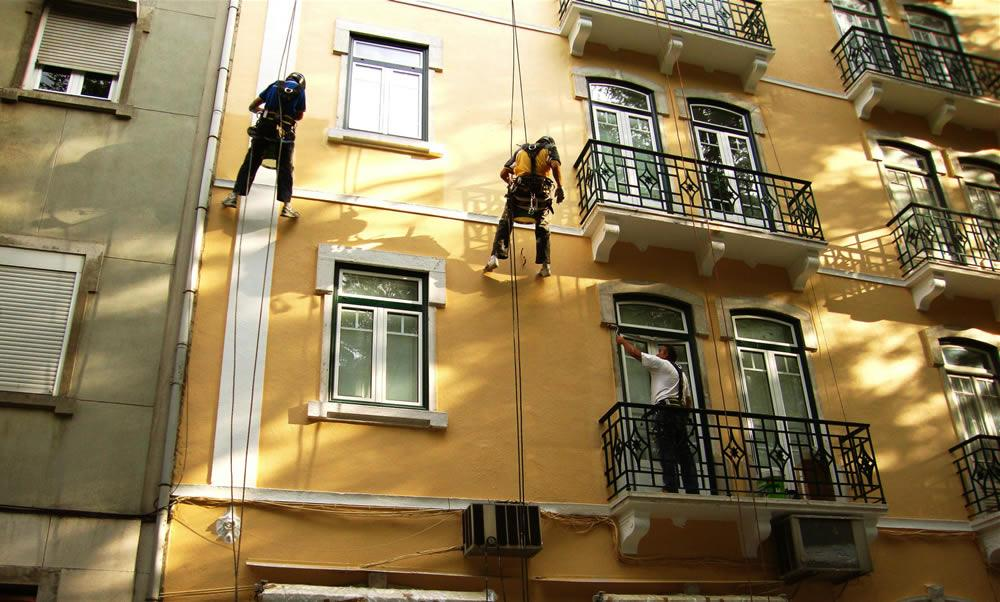 pedir orçamento para pintura de fachada, reabilitação de edifício